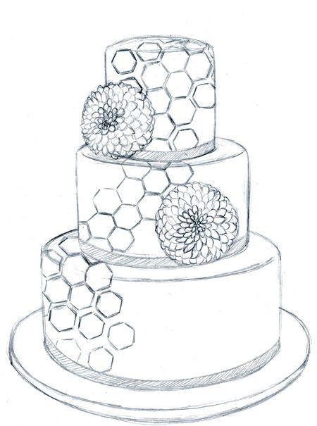 450x605 Sketches Of Wedding Cakes Kapado Cakes