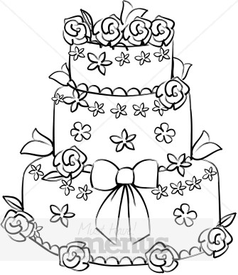 335x388 Wedding Cake Clipart Drawing