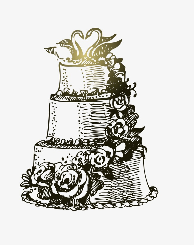 650x820 Hand Painted Wedding Cake, Hand Painted, Marry, Cake Png