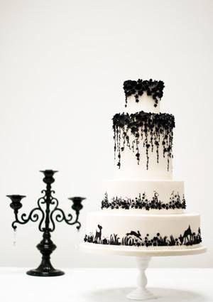 300x425 Rosalind Miller, Black Andwhite Weddingcake. Inspired By