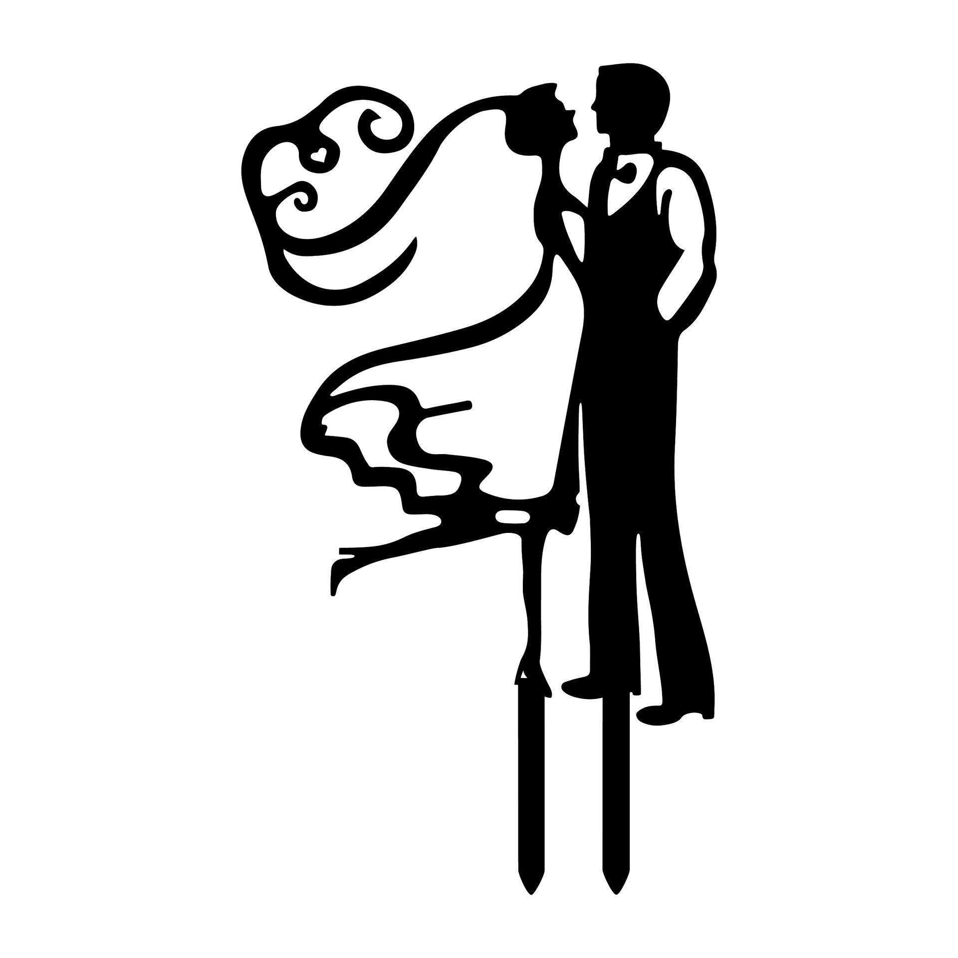 1920x1920 Black White Dance With Me Acrylic Wedding Cake Toppers Bride