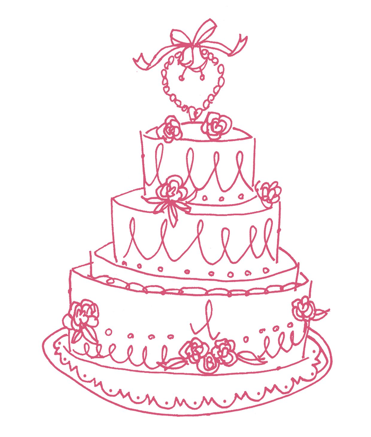 1240x1458 Vintage Cake Illustration