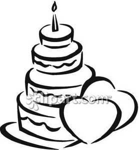 278x300 Clip Art Black And White Wedding Cake Clipart