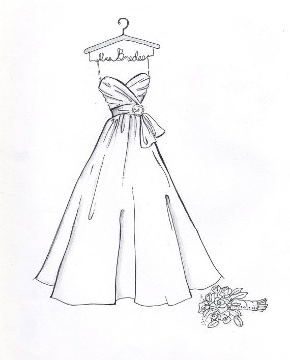 Wedding Dress Drawing Designs