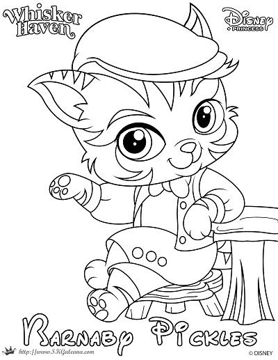 400x517 Barnaby Pickles Coloring Page From Whisker Haven By Skgaleana