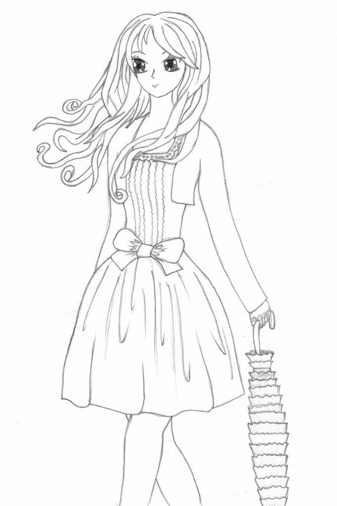 682x1024 Anime Sketch Whole Body Girl Anime Sketch Whole Body