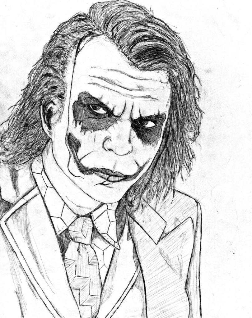 810x1024 Joker Coloring Pages