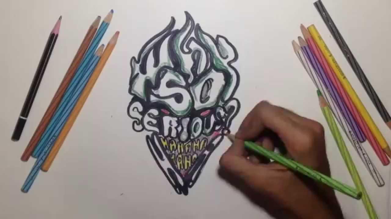 1280x720 Graffiti On Paper Joker Why So Serious