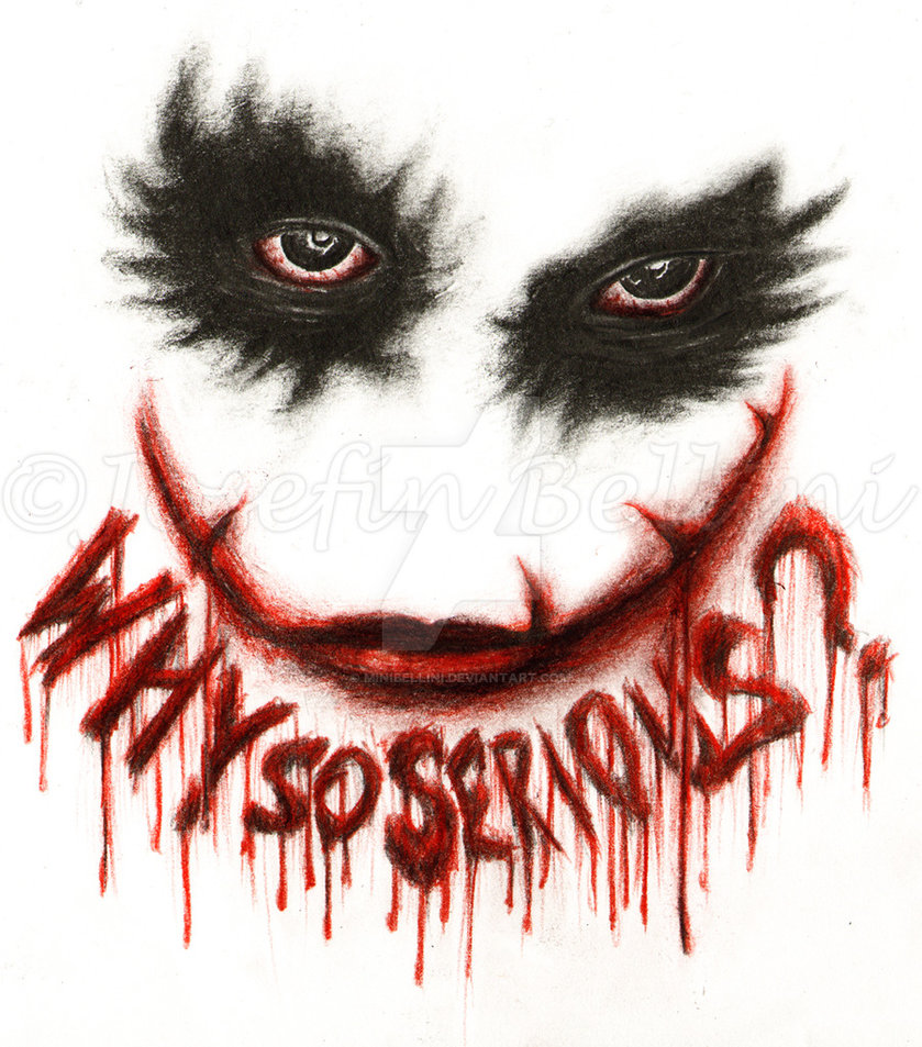 839x953 Why So Serious By Minibellini