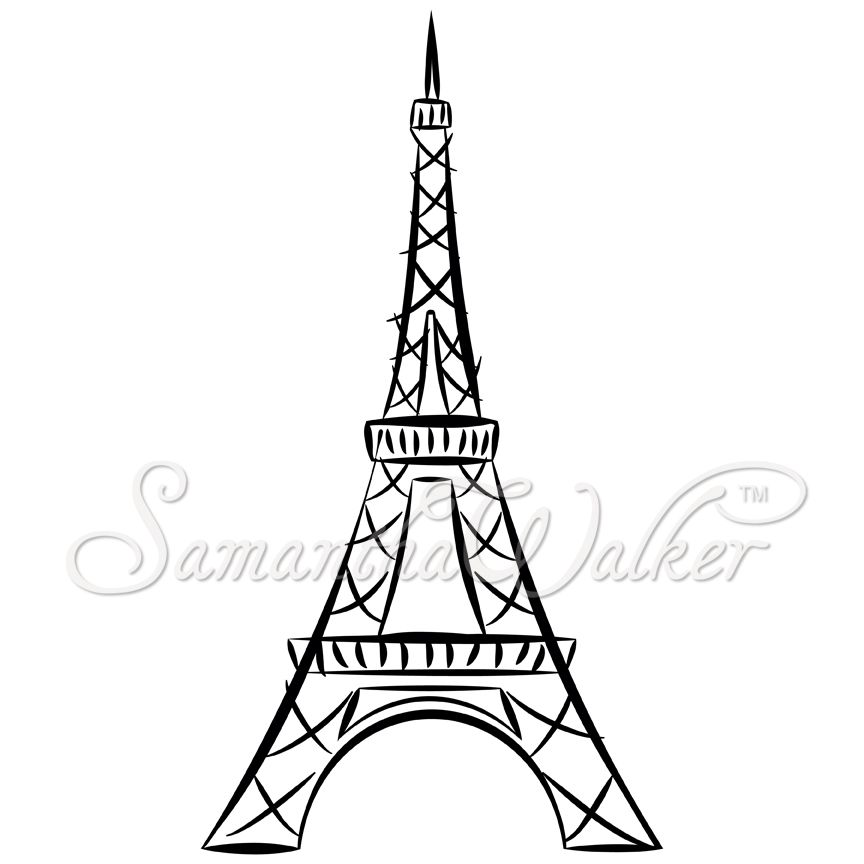 864x864 Easy Eiffel Tower Drawing These Die Cuts Will Make Great Vinyl