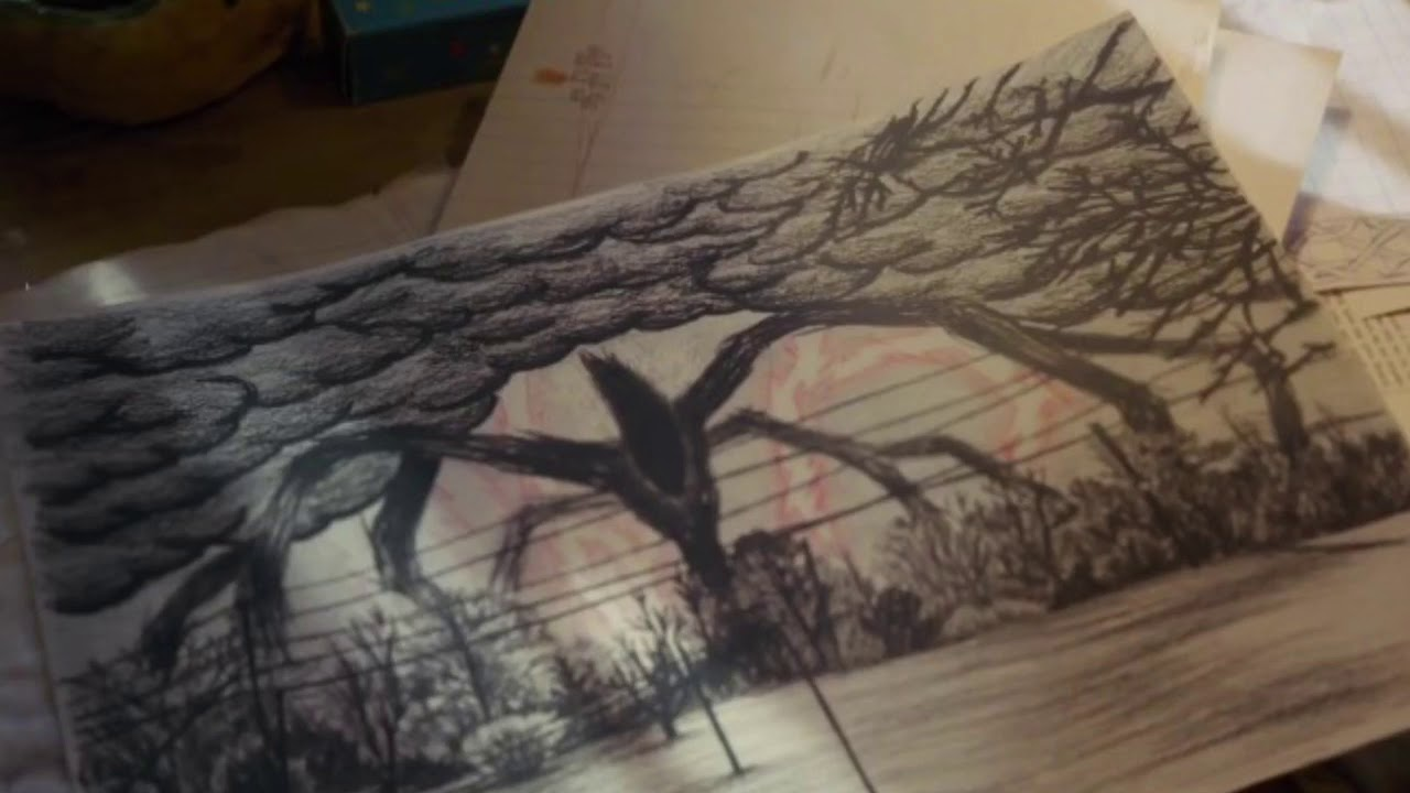 1280x720 Stranger Things Replica Of Will Byers Drawing Of The Mind Flayer