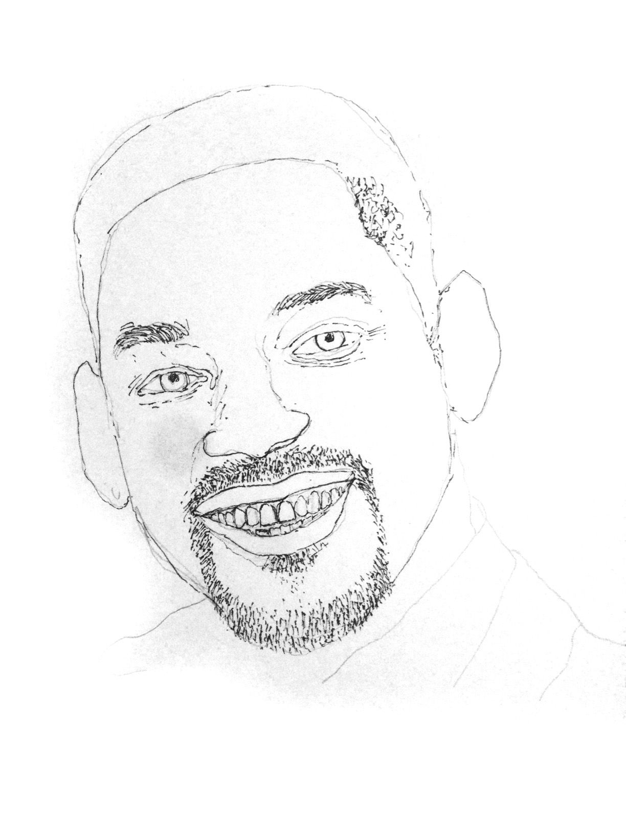 1224x1632 Drawing Will Smith Process With Description Steemit