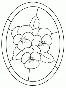226x300 Stained Glass Coloring Pages Free Printables