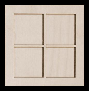 343x350 Viking Woodcrafts Frame Kit, Window Pane, 4 12 Sq,