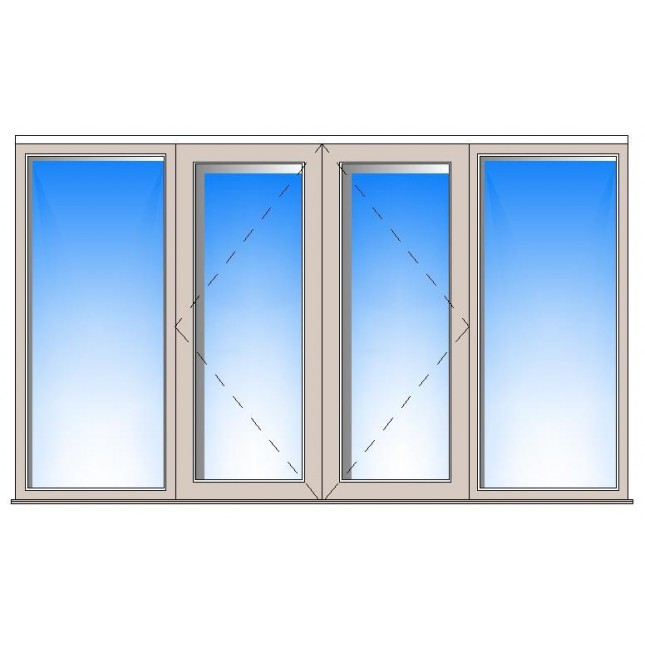 645x645 Wooden Frame Window Cad Drawing