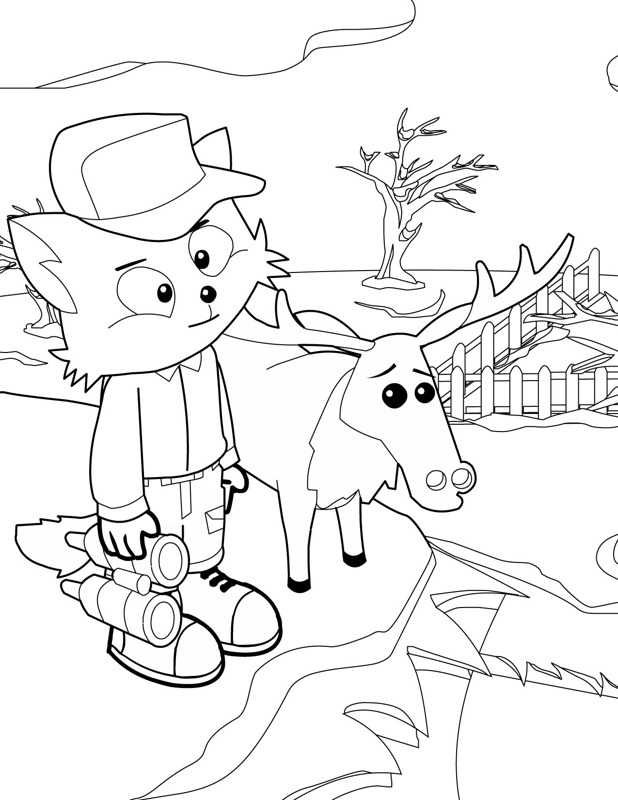1275x1650 Winter Wonderland Coloring Page Sheet Welcome To Dover
