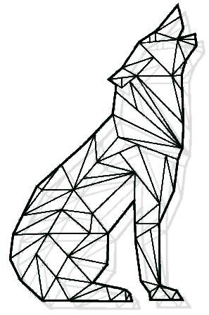 Wolf Geometric Drawing at GetDrawings.com | Free for ...