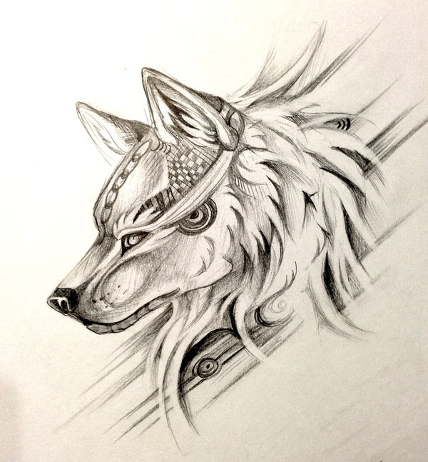 600x647 Wolf Head Design By Lucky978