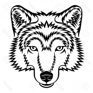 300x300 Black And White Wolf Head Design Element Image Arenawp