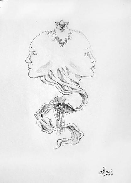 Woman And Man Drawing
