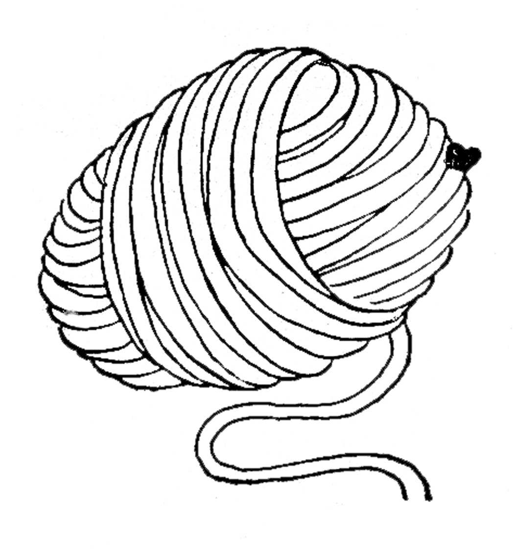 1050x1134 Ball Of Yarn Drawing 45 Yarn Coloring Page, Yarn Coloring Pages