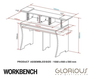 300x258 Glorious Workbench White Thomann Uk