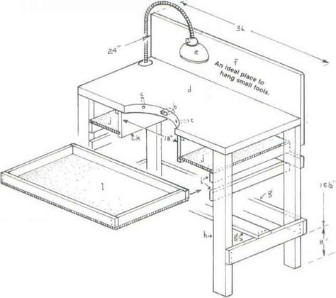 474x420 Jewelers Bench Sketchup Plans