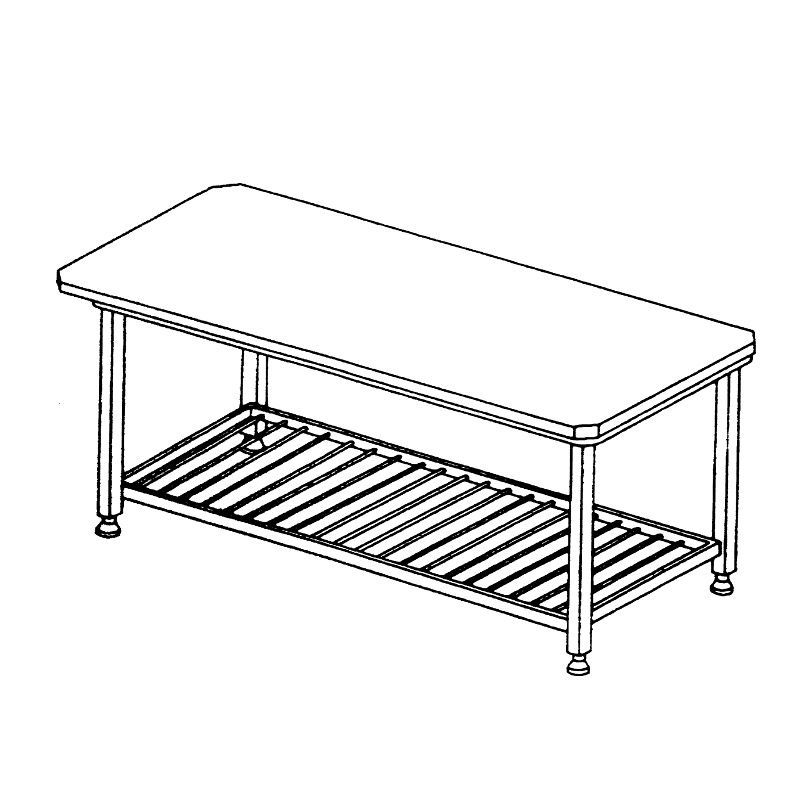 800x800 Stainless Steel Workbench