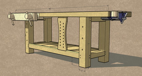 485x262 Revised Workbench Drawing, Plus More On Sketchup