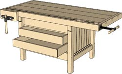 250x153 Shopnotes Magazine Posts 3d Model Of Workbench Online