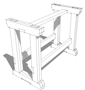 288x303 Designing A Work Bench With Sketchup