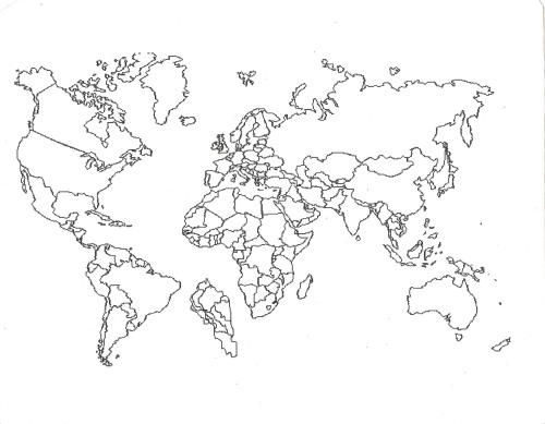 500x389 World Map Drawing Tumblr