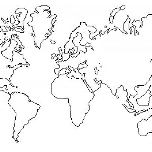300x300 Blank World Map With Lines Fresh World Map Black And White Tumblr