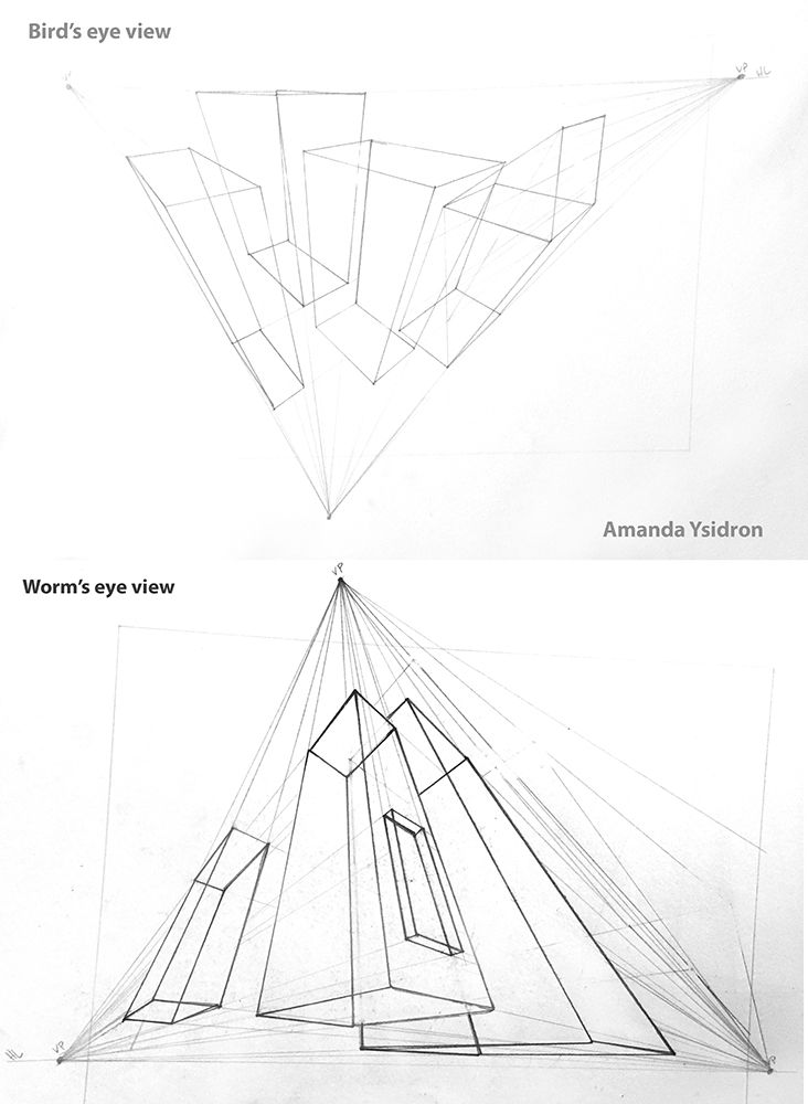 732x1000 Three Point Perspective My Drawings Three Point