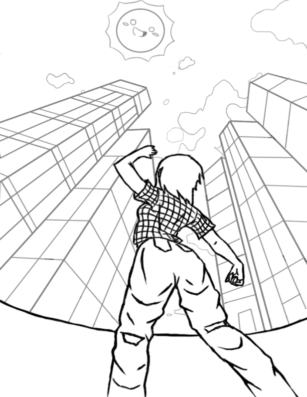 612x792 3 Point Perspective By Hazel Almonds