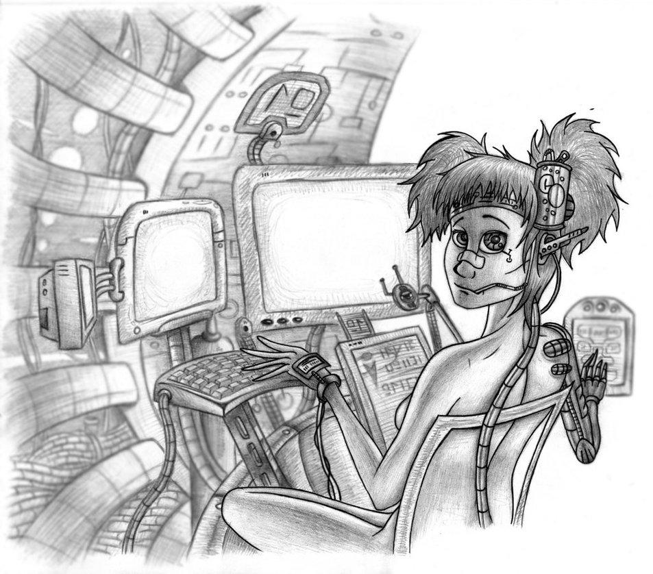 953x838 Hacker Girl By Samwound