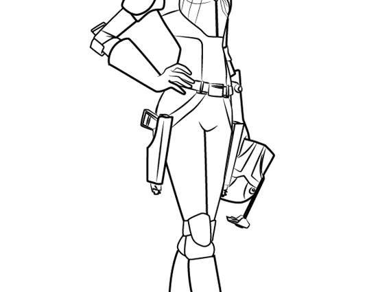 Star Wars Rebels Sabine Coloring Pages - coloringpages2019 | 425x567