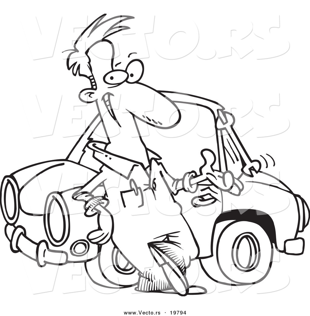1024x1044 Vector Of A Cartoon Male Auto Mechanic Tossing A Wrench