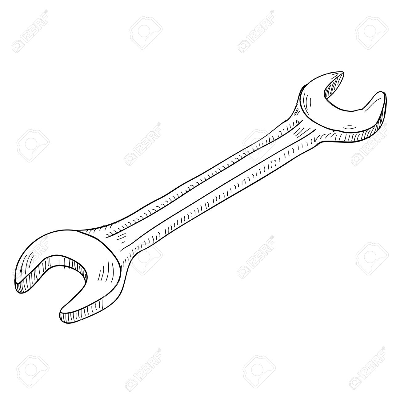 1300x1300 Collection Of Wrench Tool Drawing High Quality, Free