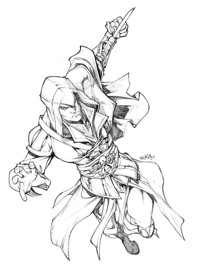 659x900 Assassin's Creed Game Coloring Pages For Kids Loic Doss Tattoo
