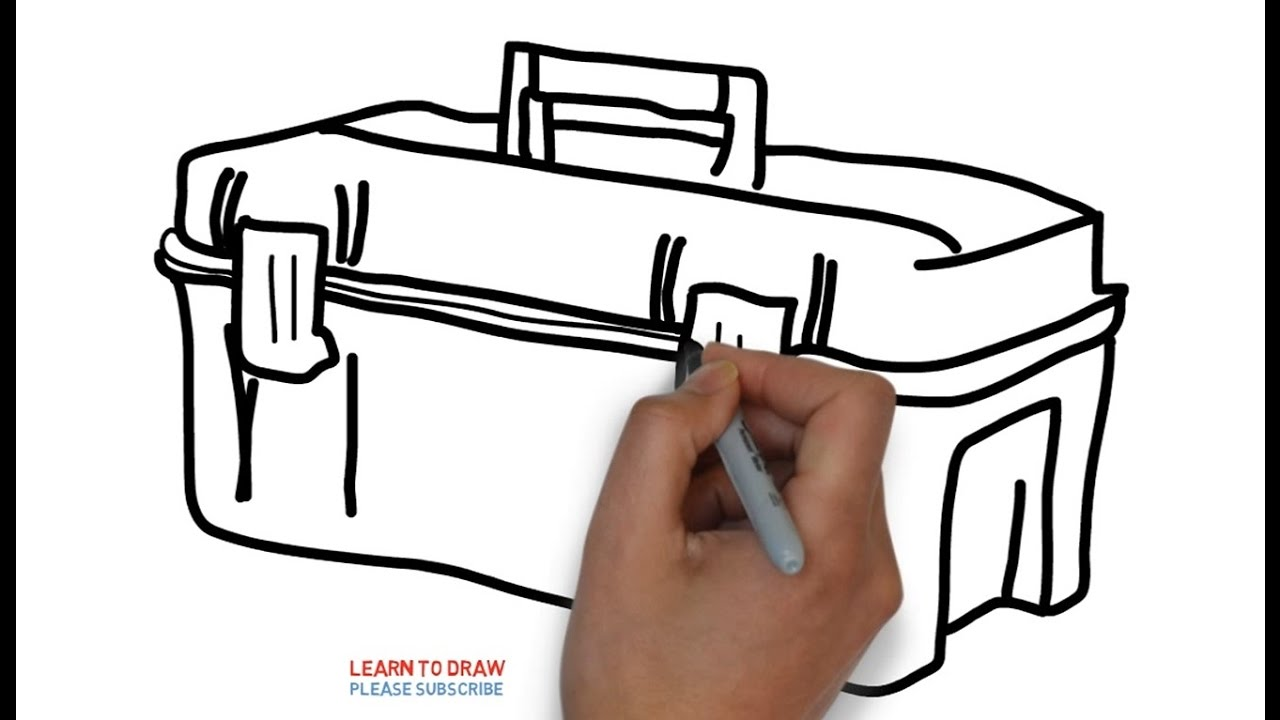 1280x720 How To Draw A Tool Box Step By Step For Kids