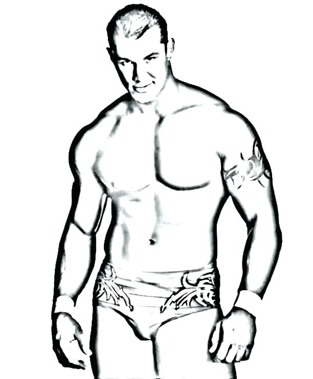 612x742 Wwe Wrestling Coloring Pages Wrestlers Printable Wrestling