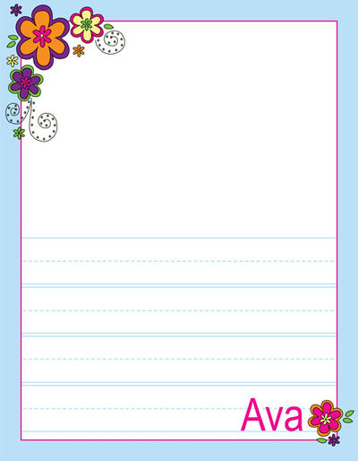 400x514 Mod Flowers Writing Pad Custom Kids Note Pad Printed Drawing Pad
