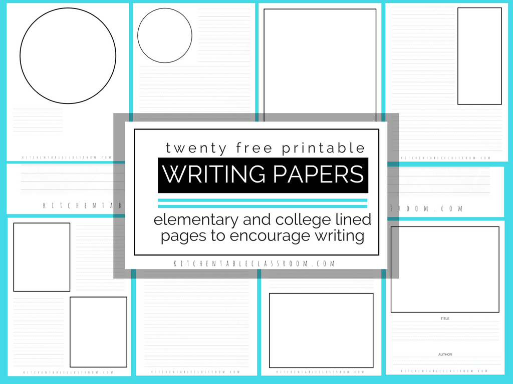 1024x768 Printable Writing Paper Twenty Free Templates For Kid's Writing