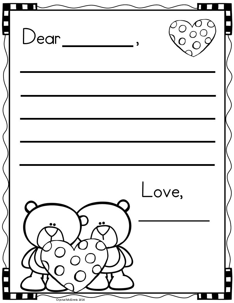 Writing And Drawing Template For Kindergarten At Getdrawings