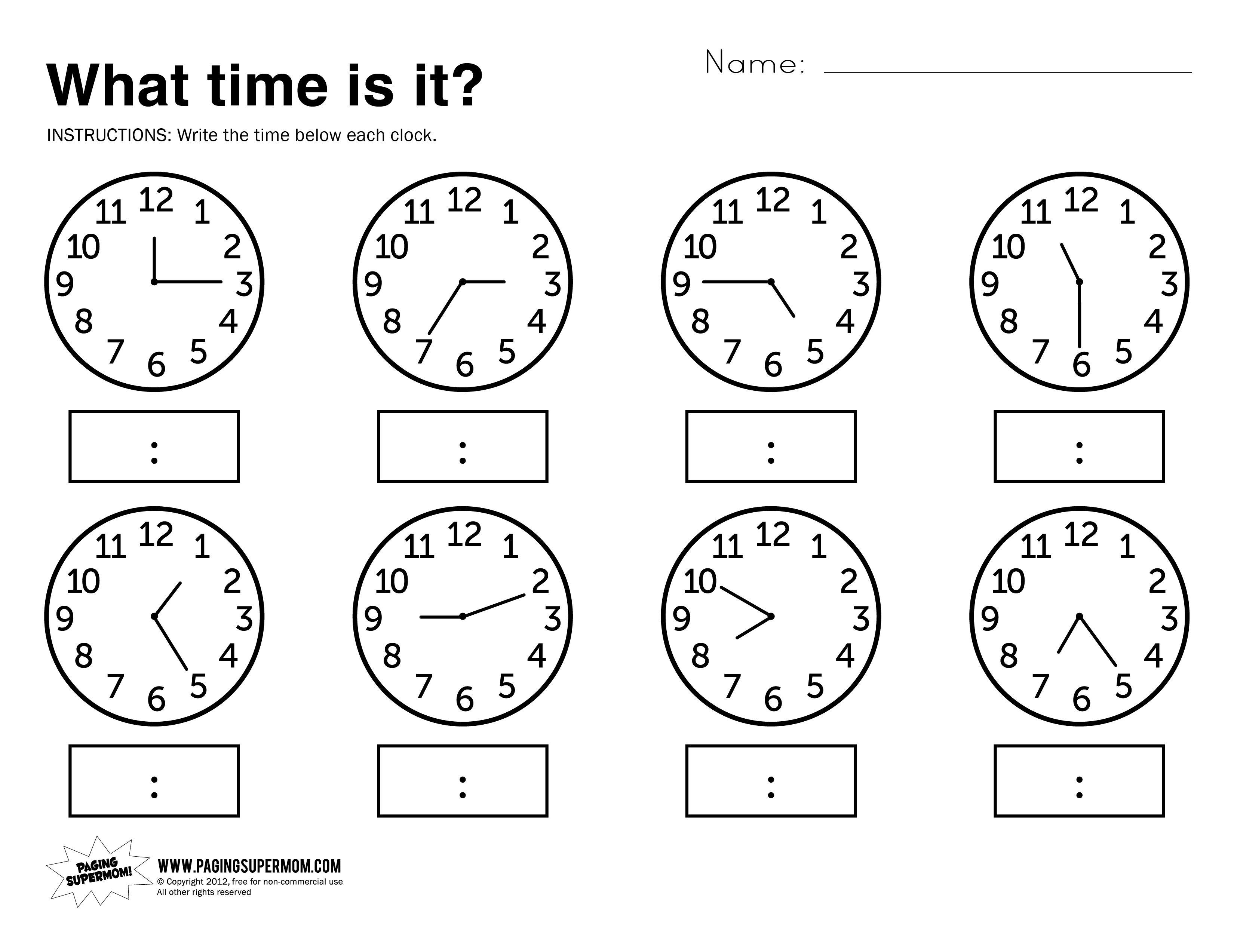 3300x2546 Kindergarten Telling Time Worksheets Kindergarten What Is It