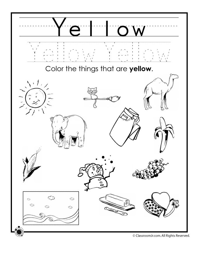 680x880 Learning Colors Worksheets For Preschoolers Color Yellow Worksheet