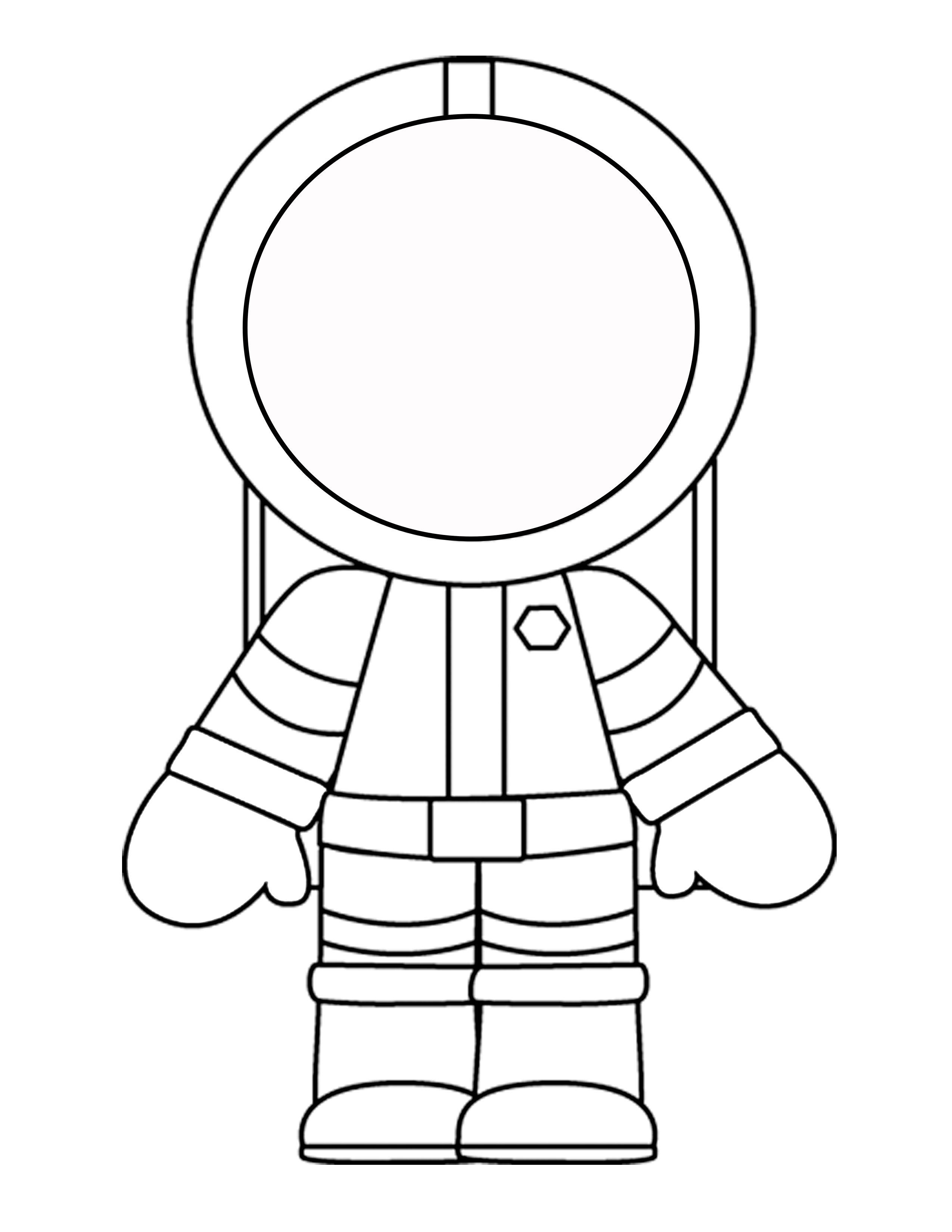 2550x3300 Astronaut Template Kindergarten Kindergarten Writing Space 239818