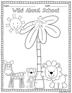 Writing And Drawing Template For Kindergarten at ...