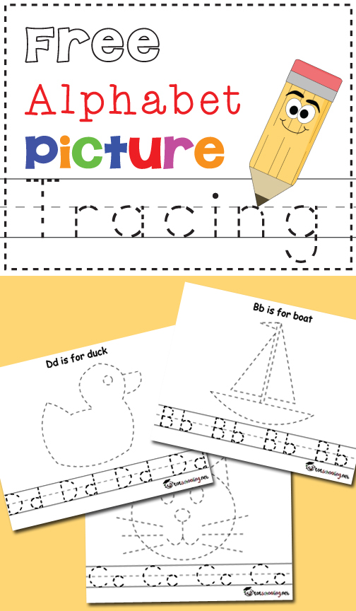 504x864 Free Alphabet Amp Picture Tracing Printables Totschooling